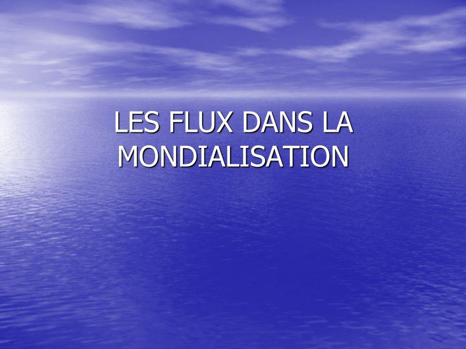 LES FLUX DANS LA MONDIALISATION