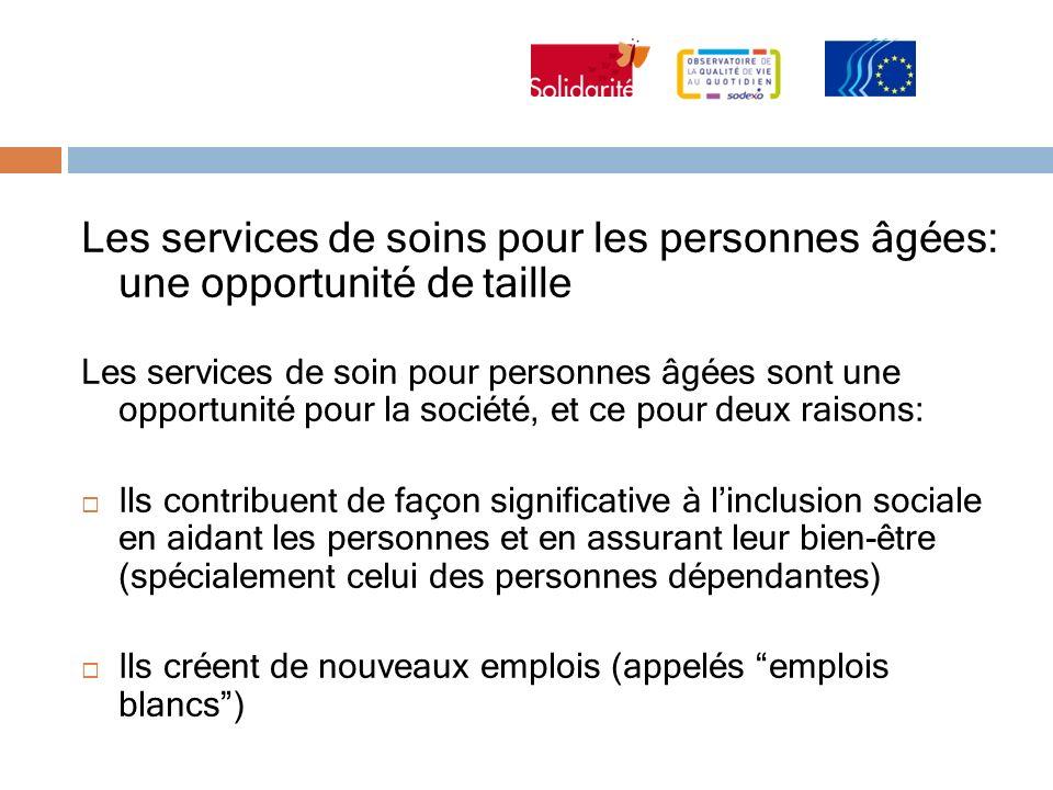 Les services de soins pour les personnes âgées: une opportunité de taille