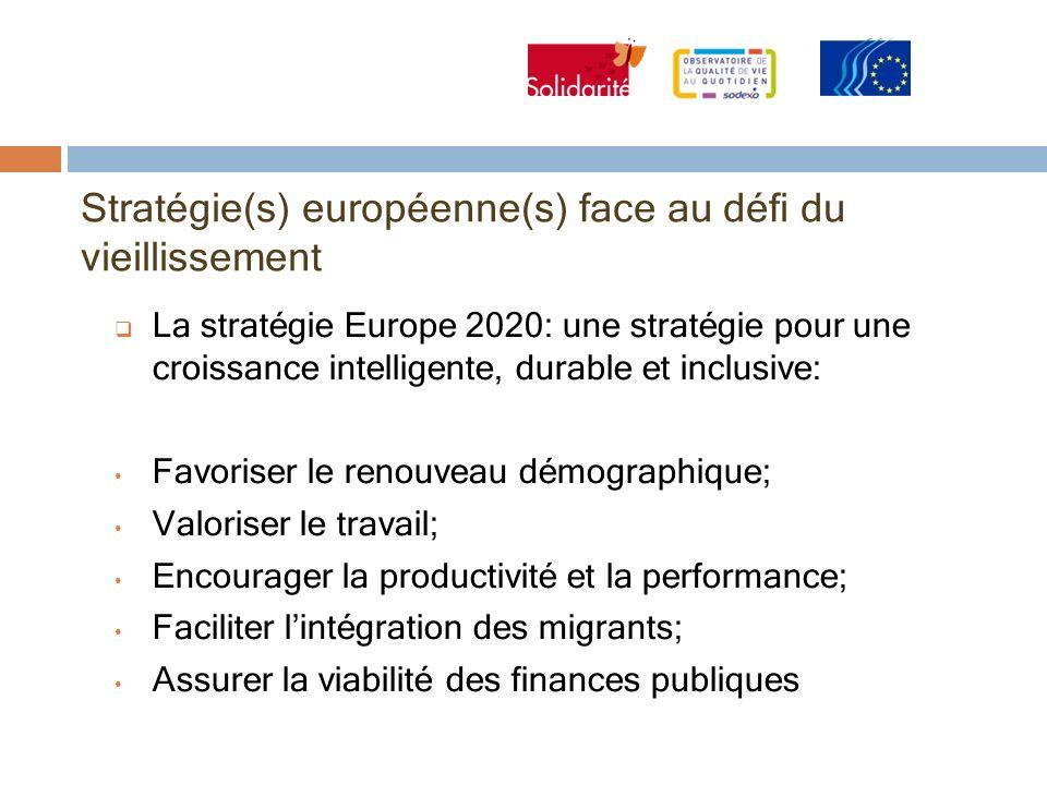 Stratégie(s) européenne(s) face au défi du vieillissement