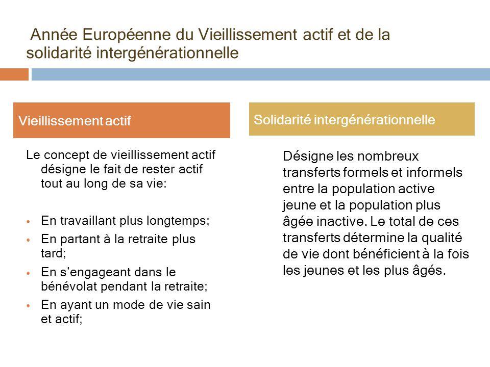 Année Européenne du Vieillissement actif et de la solidarité intergénérationnelle