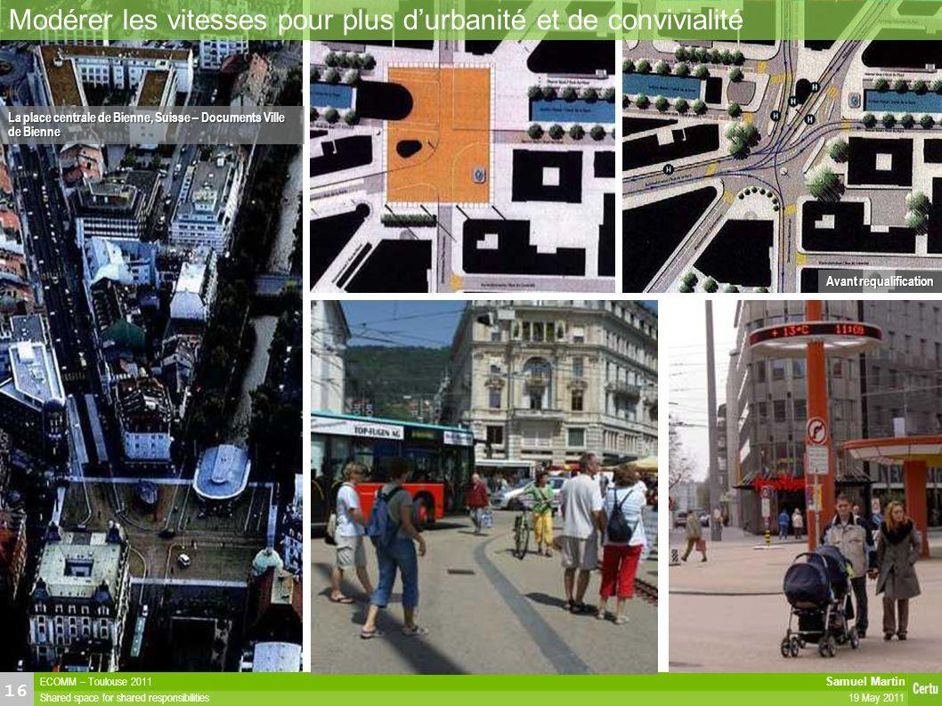 Modérer les vitesses pour plus d'urbanité et de convivialité
