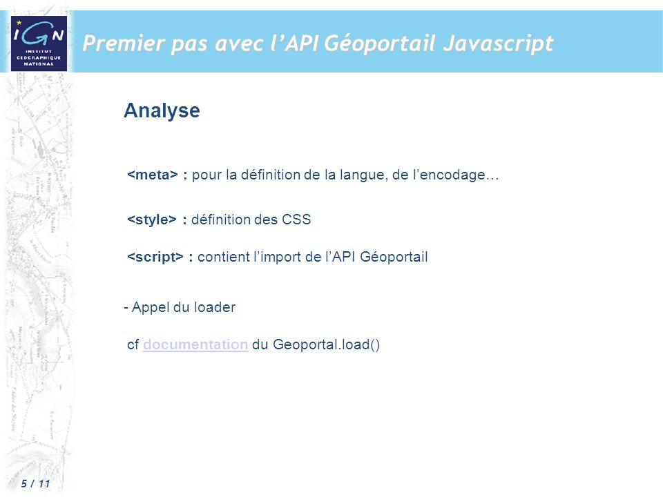 Premier pas avec l'API Géoportail Javascript