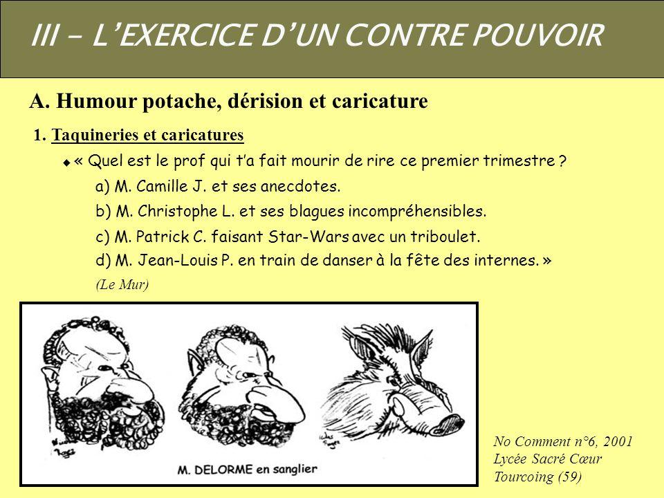 III - L'EXERCICE D'UN CONTRE POUVOIR