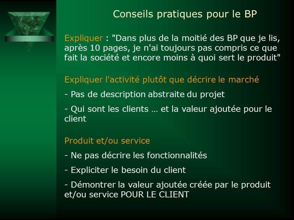 Conseils pratiques pour le BP