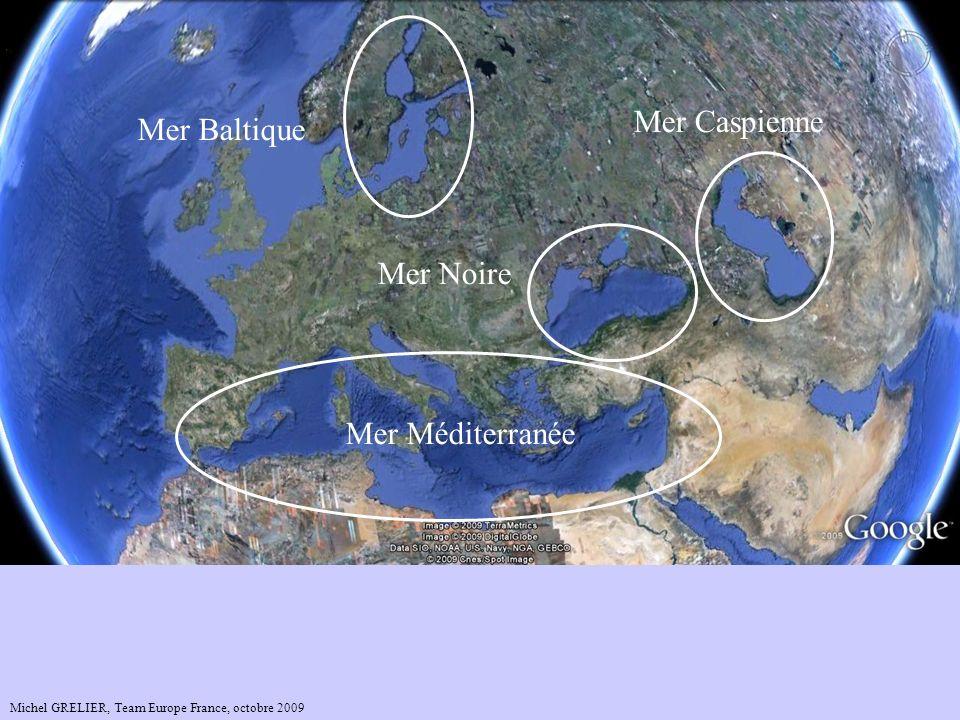 Mer Caspienne Mer Baltique Mer Noire Mer Méditerranée
