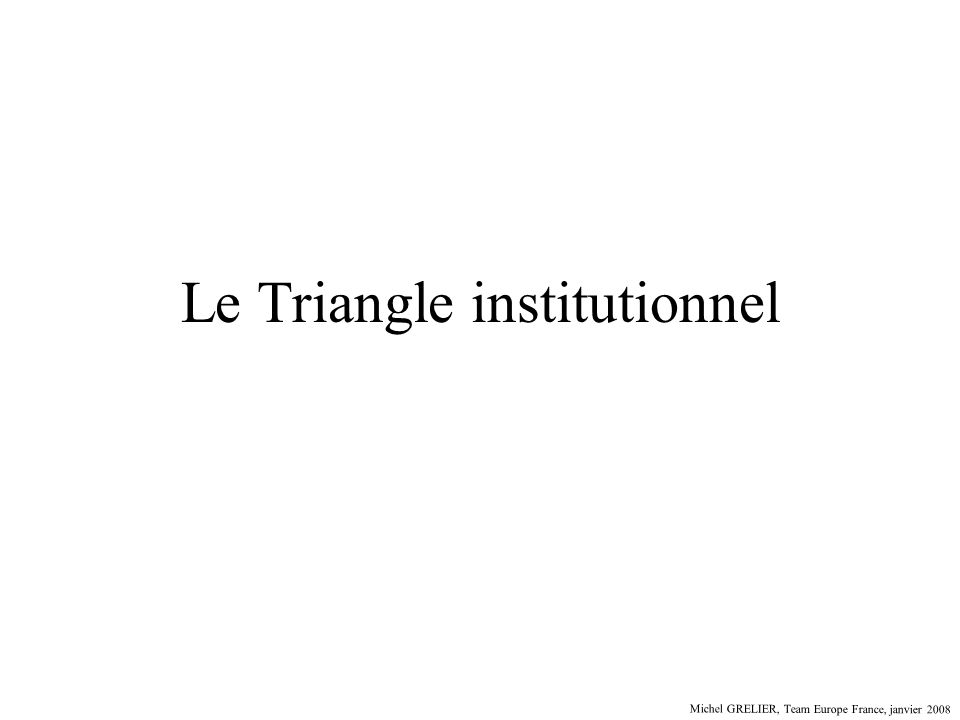 Le Triangle institutionnel