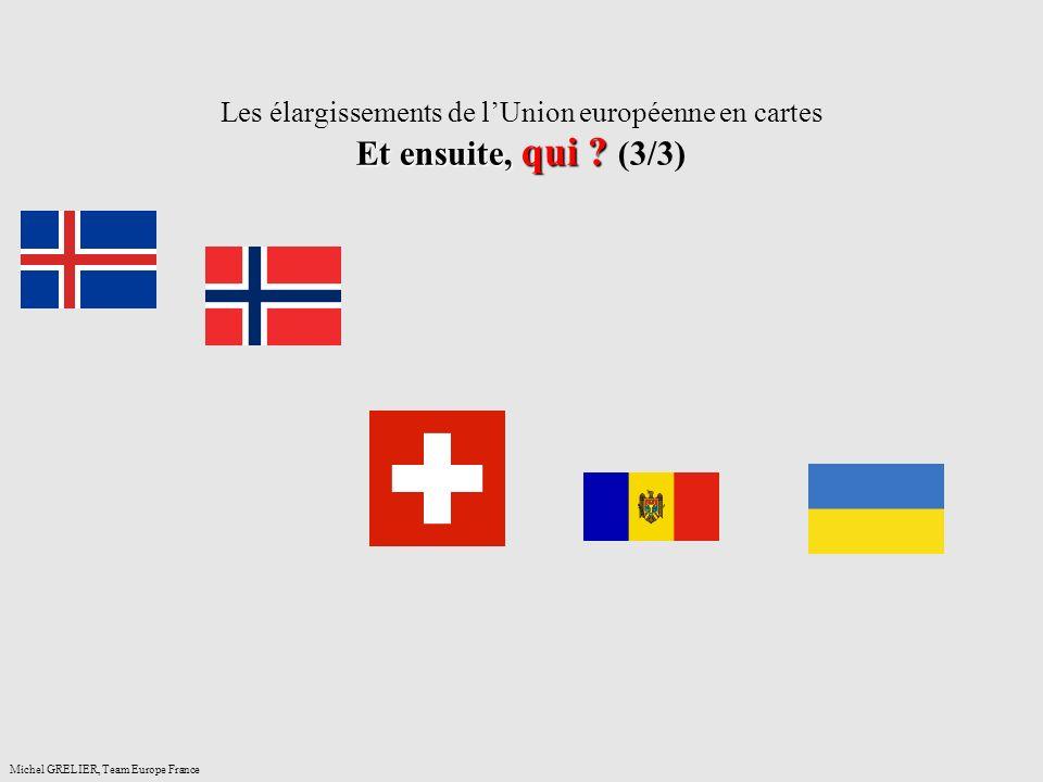 Les élargissements de l'Union européenne en cartes Et ensuite, qui