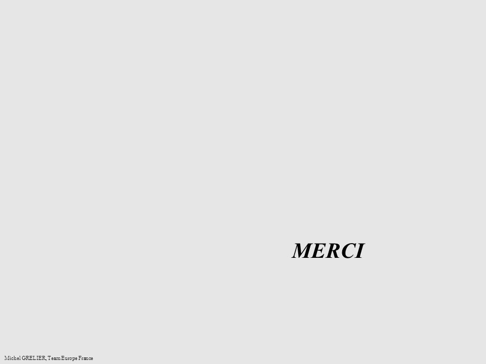 MERCI Michel GRELIER, Team Europe France