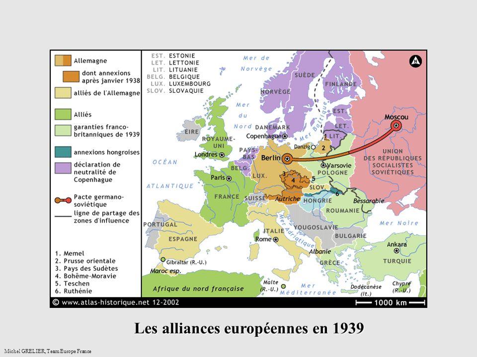 Les alliances européennes en 1939