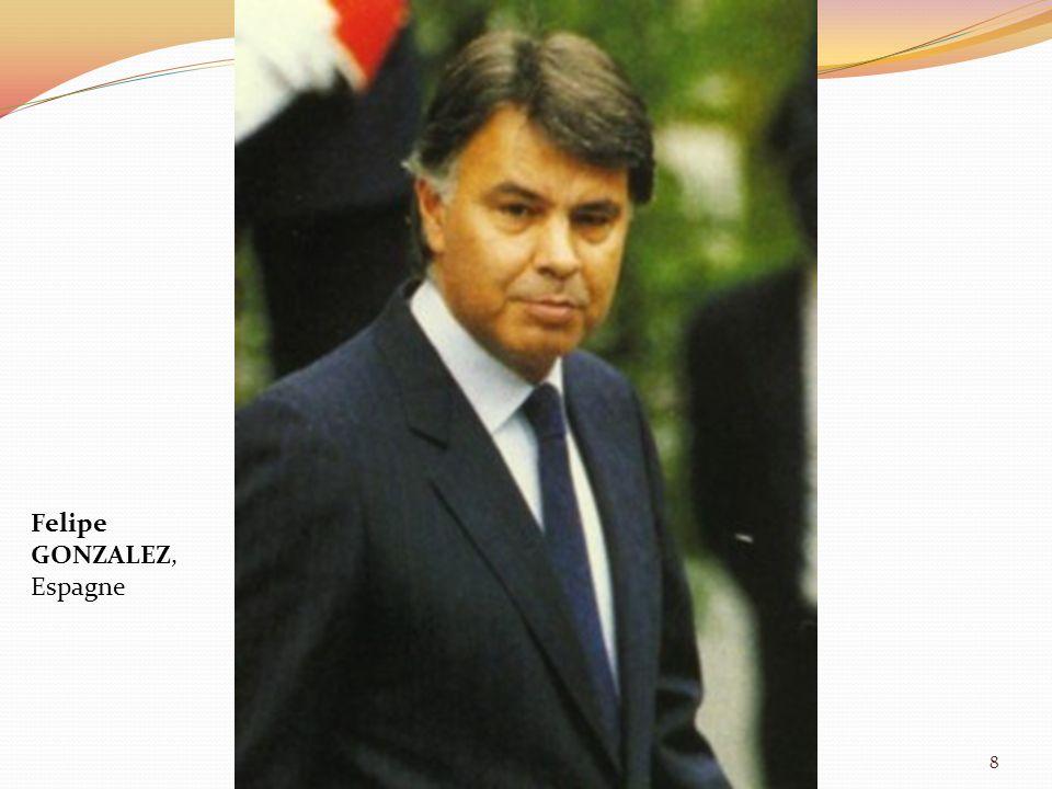 Felipe GONZALEZ, Espagne