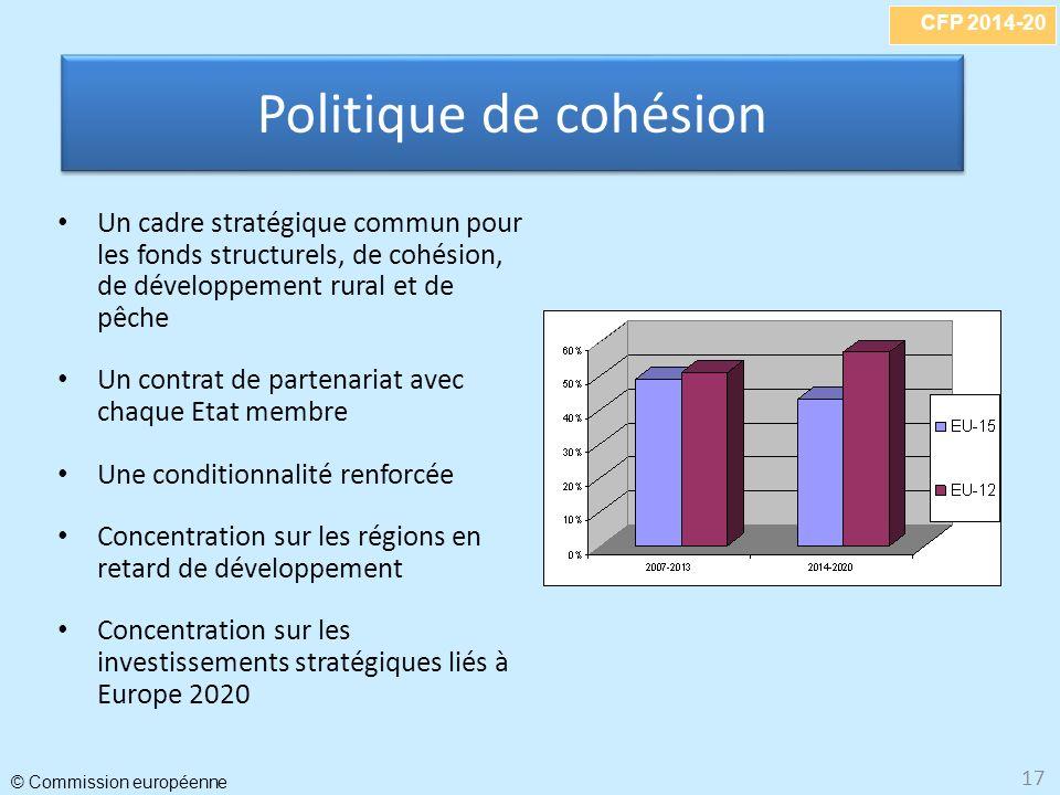 Politique de cohésion Un cadre stratégique commun pour les fonds structurels, de cohésion, de développement rural et de pêche.