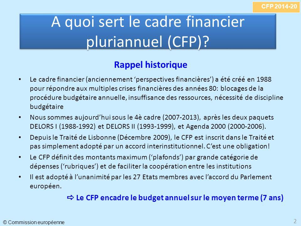 A quoi sert le cadre financier pluriannuel (CFP)