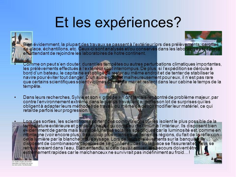 Et les expériences