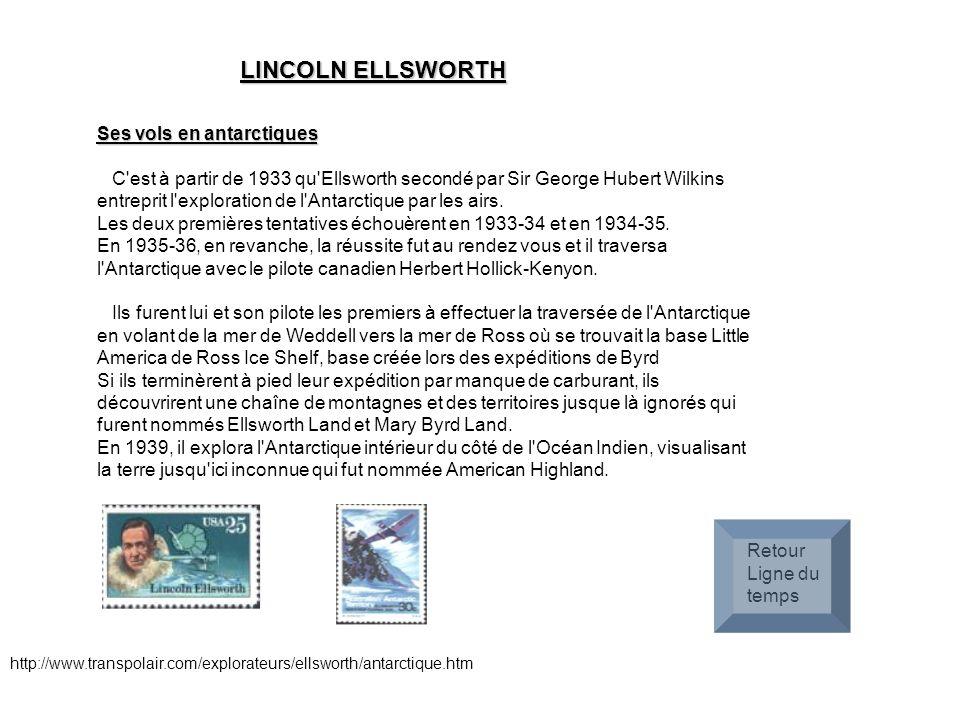 LINCOLN ELLSWORTH Ses vols en antarctiques
