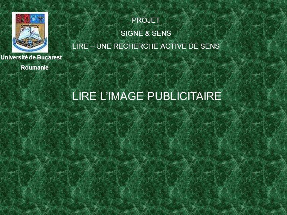 LIRE L'IMAGE PUBLICITAIRE