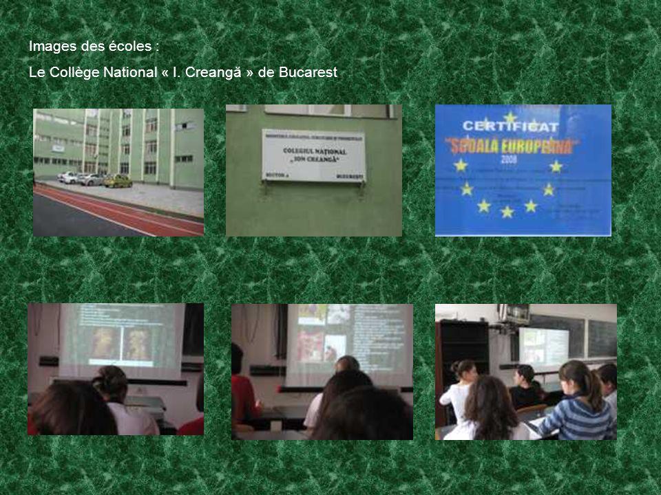 Images des écoles : Le Collège National « I. Creangă » de Bucarest