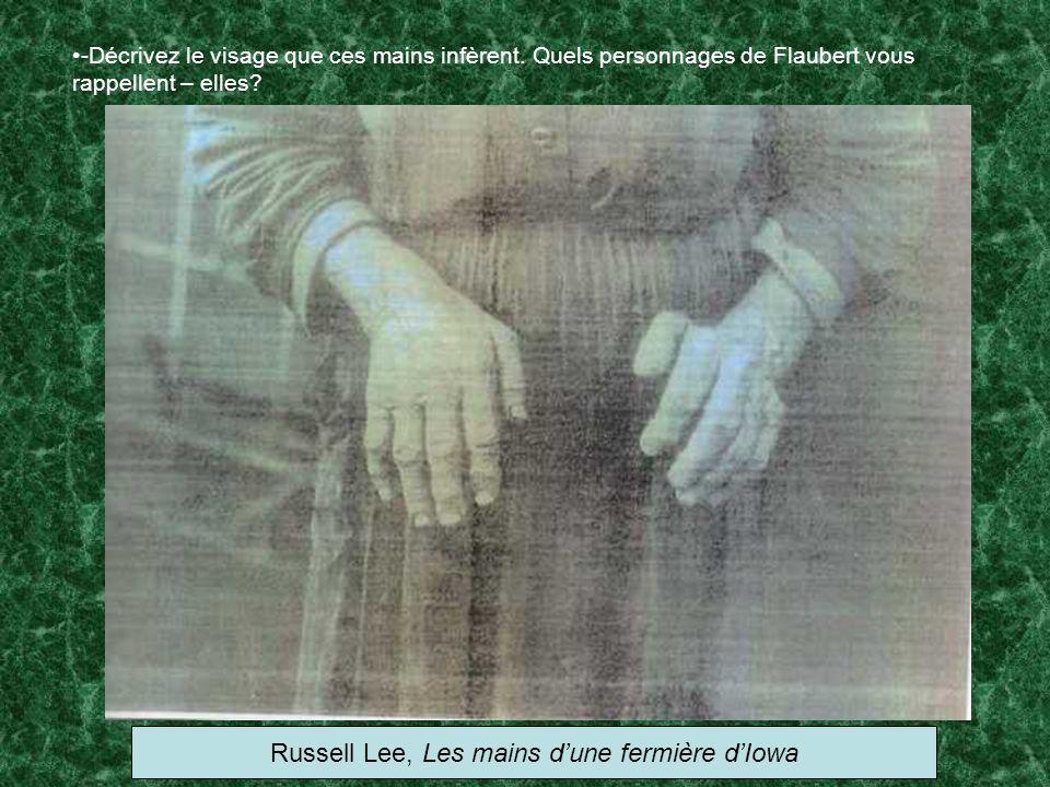 Russell Lee, Les mains d'une fermière d'Iowa