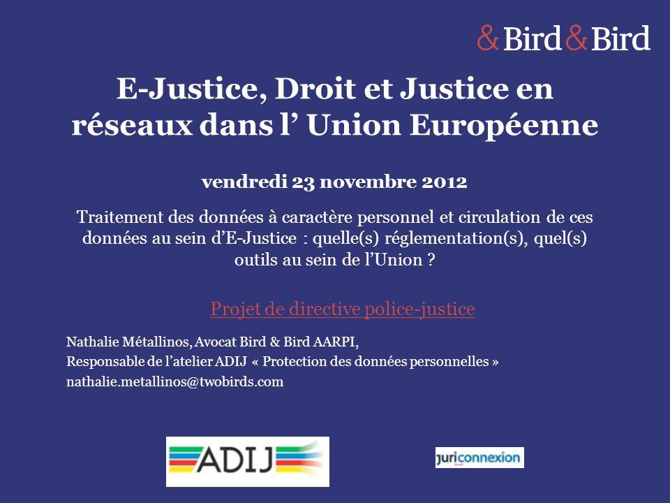 E-Justice, Droit et Justice en réseaux dans l' Union Européenne