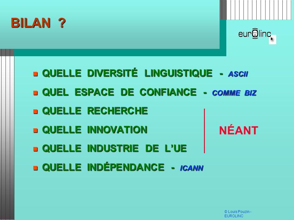 BILAN NÉANT QUELLE DIVERSITÉ LINGUISTIQUE - ASCII