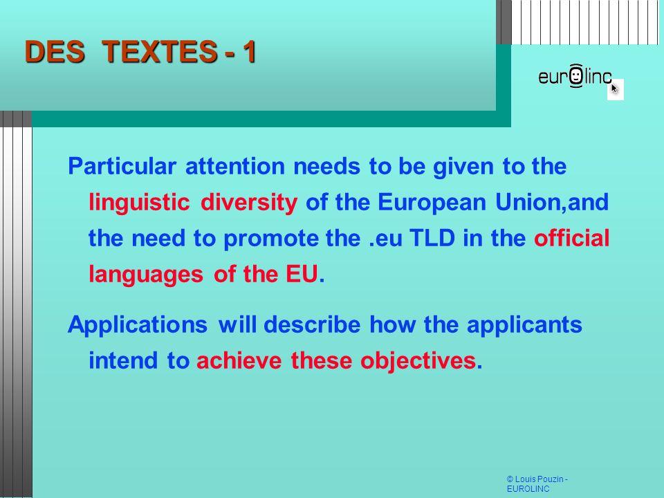 DES TEXTES - 1