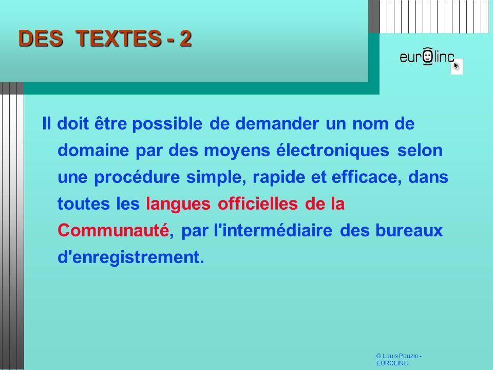DES TEXTES - 2