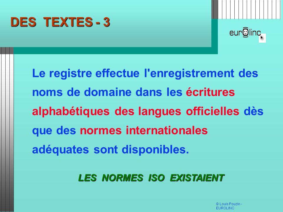 DES TEXTES - 3