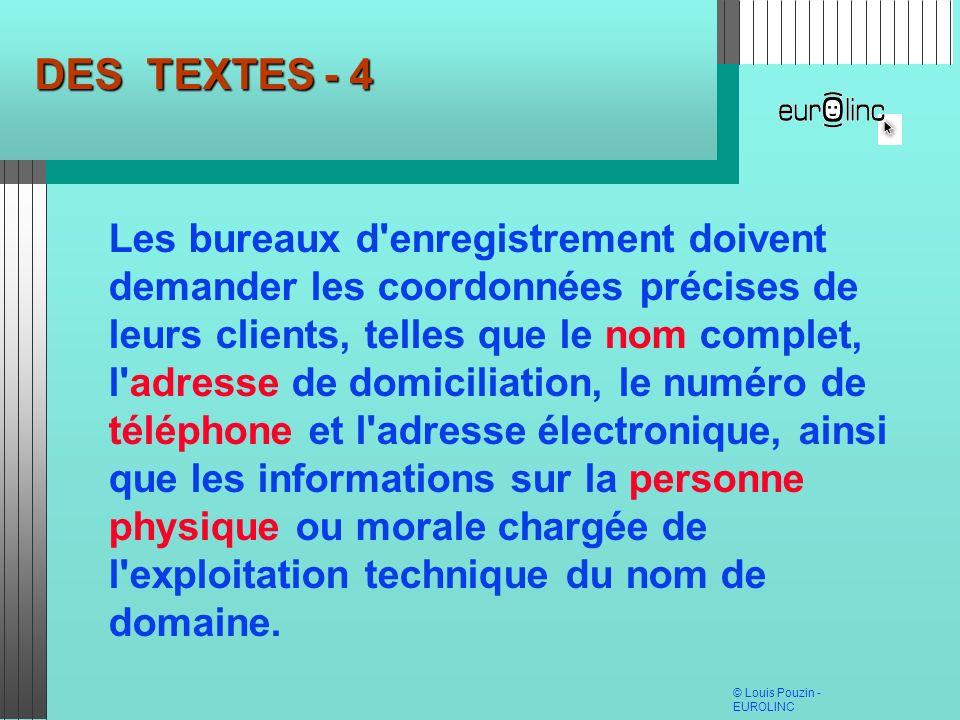 DES TEXTES - 4