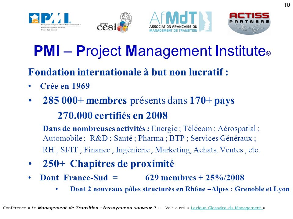 PMI – Project Management Institute®