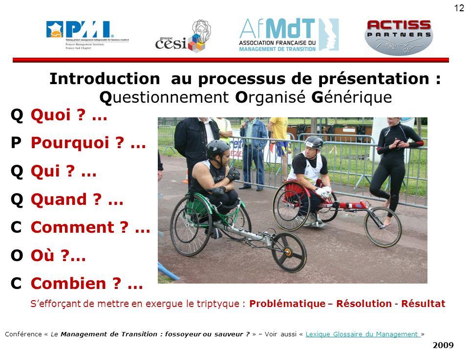 Introduction au processus de présentation :