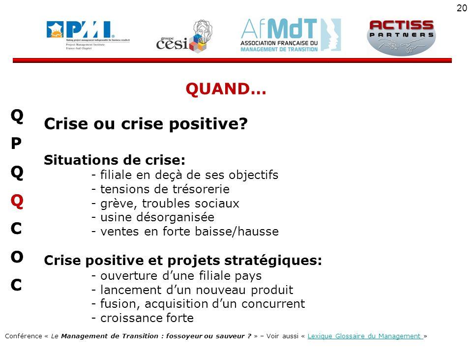 Crise ou crise positive Q P