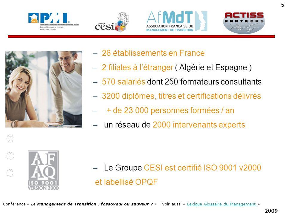 Q P C O 26 établissements en France