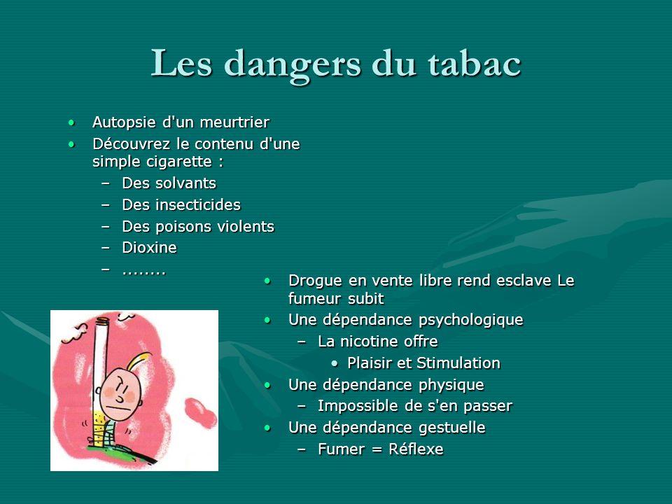 Les dangers du tabac Autopsie d un meurtrier