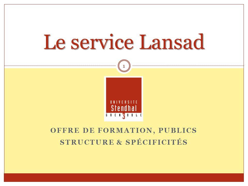 Offre de Formation, publics Structure & Spécificités