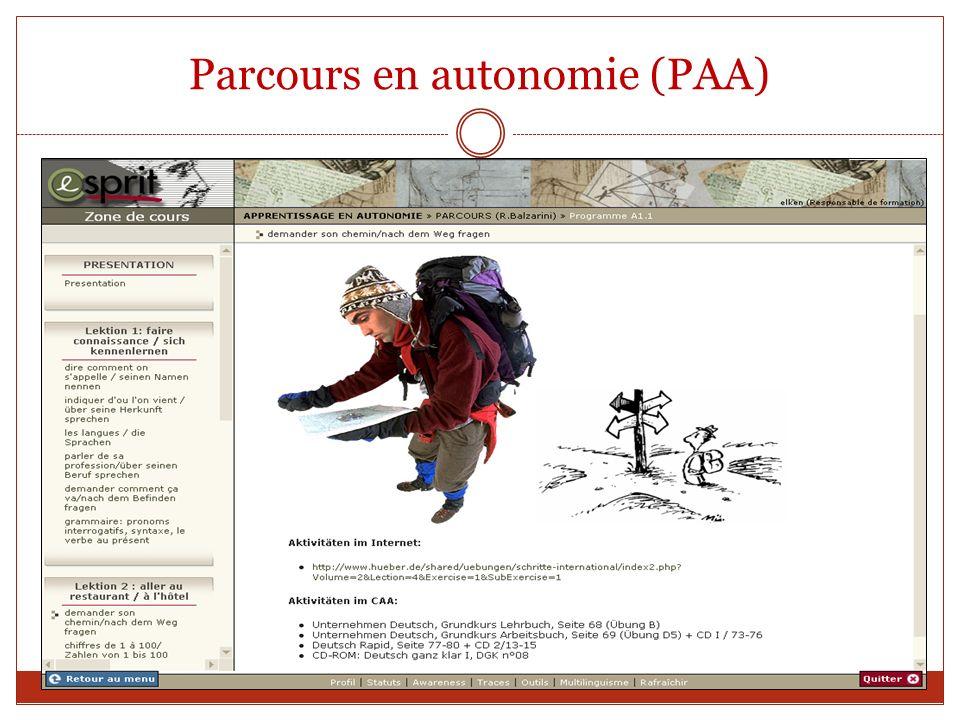 Parcours en autonomie (PAA)