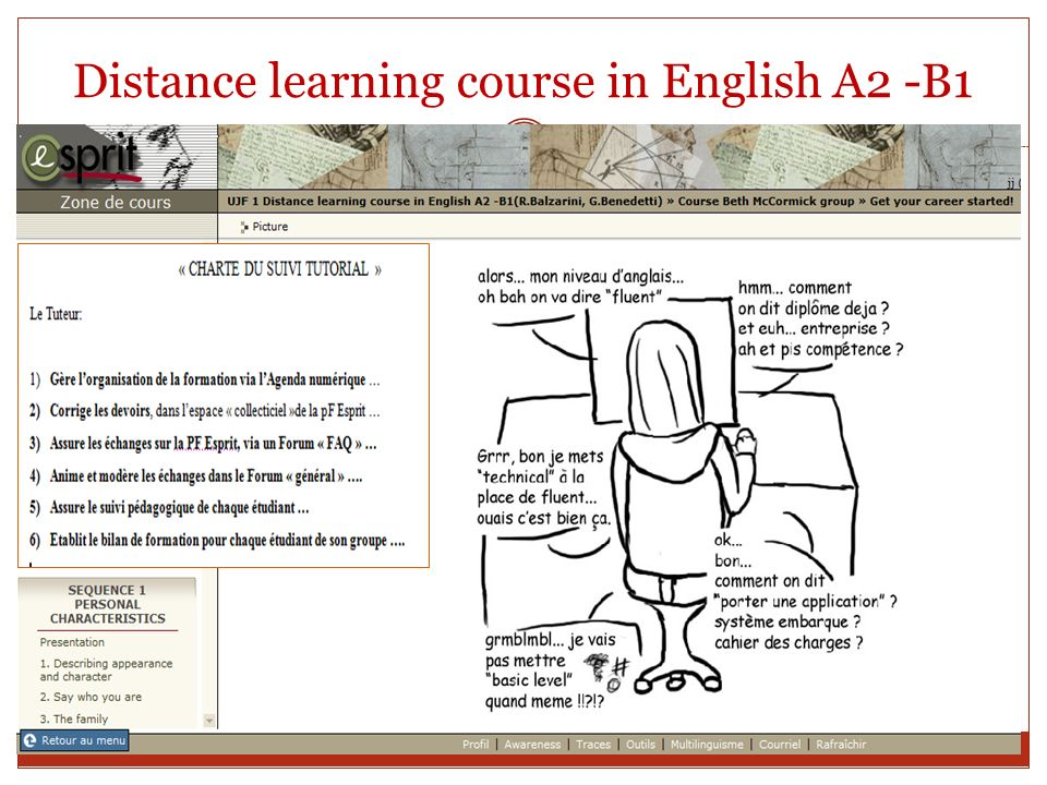 Distance learning course in English A2 -B1