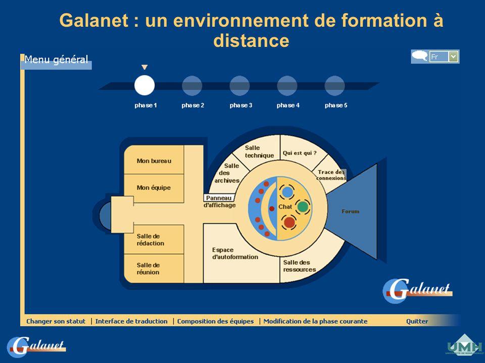 Galanet : un environnement de formation à distance