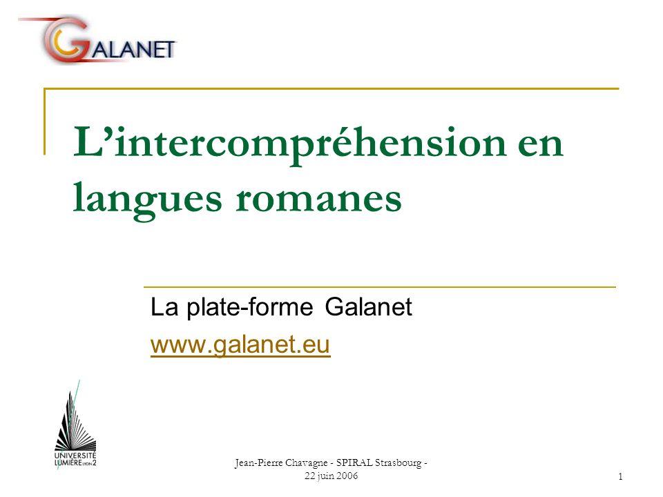 L'intercompréhension en langues romanes