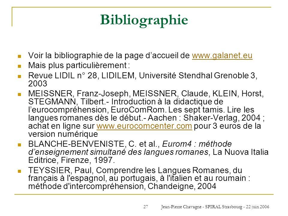 Jean-Pierre Chavagne - SPIRAL Strasbourg - 22 juin 2006