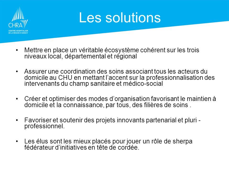 Les solutions Mettre en place un véritable écosystème cohérent sur les trois niveaux local, départemental et régional.