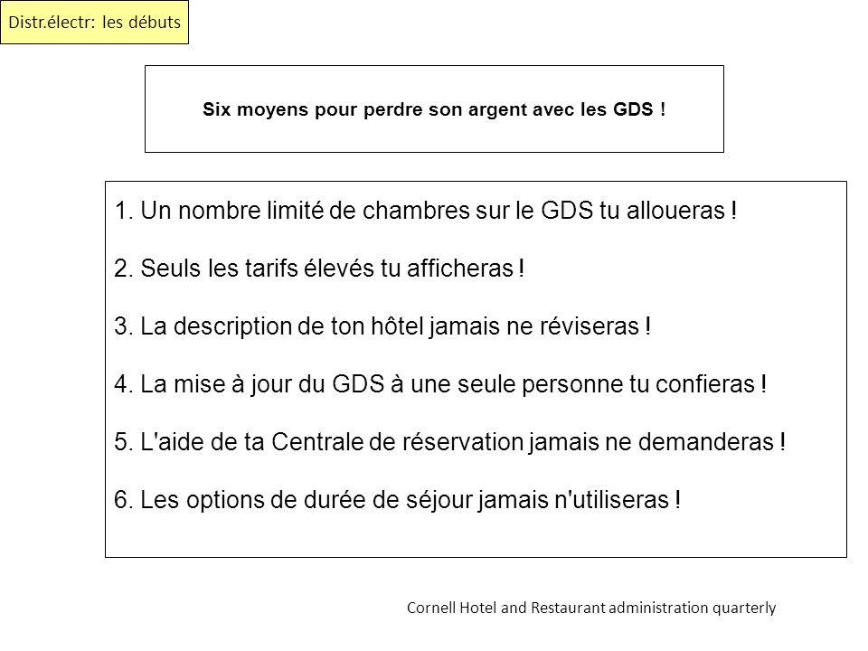 Six moyens pour perdre son argent avec les GDS !