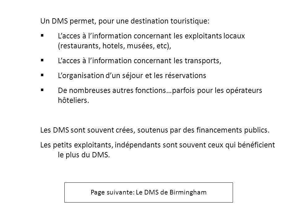 Page suivante: Le DMS de Birmingham