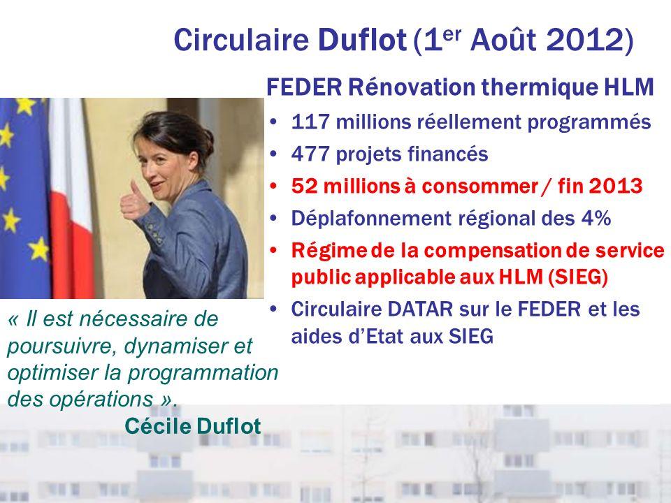 Circulaire Duflot (1er Août 2012)