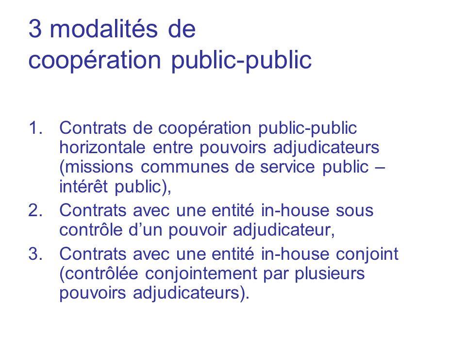 3 modalités de coopération public-public