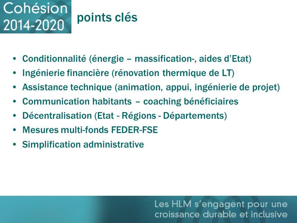 points clés Conditionnalité (énergie – massification-, aides d'Etat)