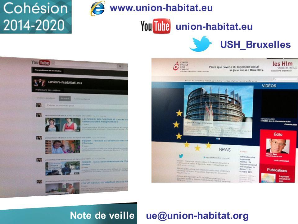 www.union-habitat.eu union-habitat.eu USH_Bruxelles ue@union-habitat.org Note de veille