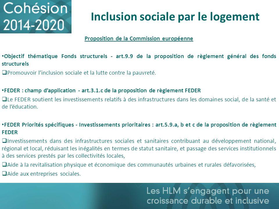 Inclusion sociale par le logement