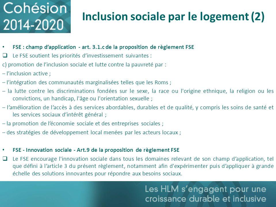 Inclusion sociale par le logement (2)