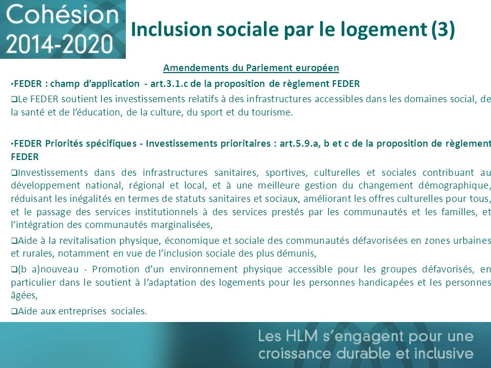 Inclusion sociale par le logement (3)