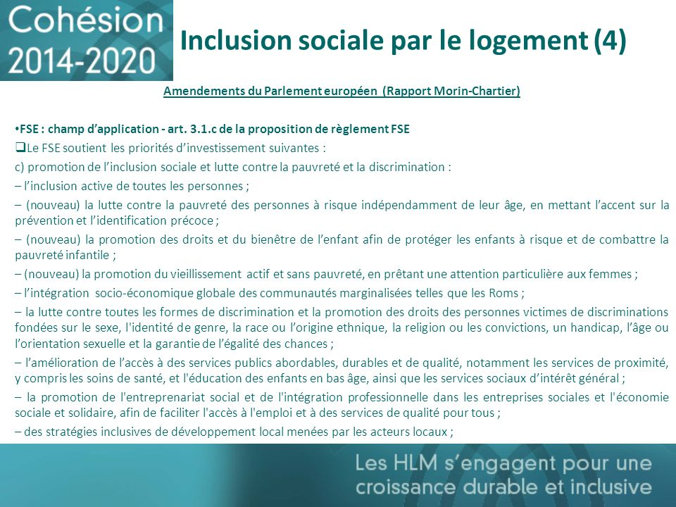 Inclusion sociale par le logement (4)