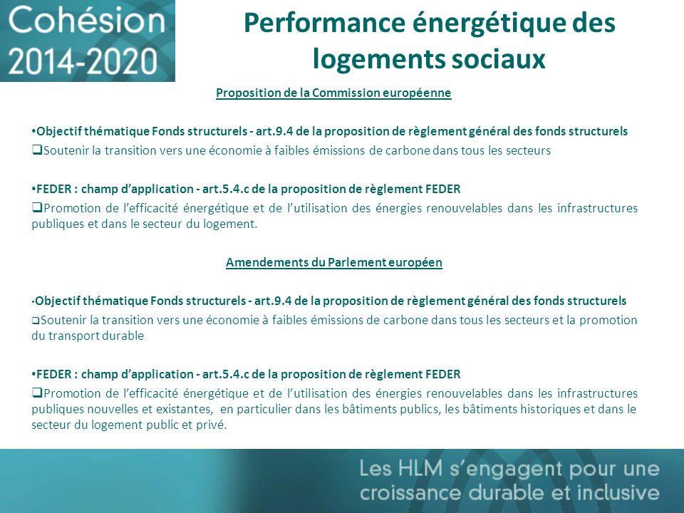 Performance énergétique des logements sociaux